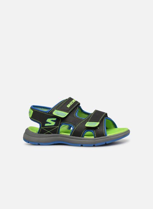 Sandales et nu-pieds Skechers Sun Spurt Noir vue derrière