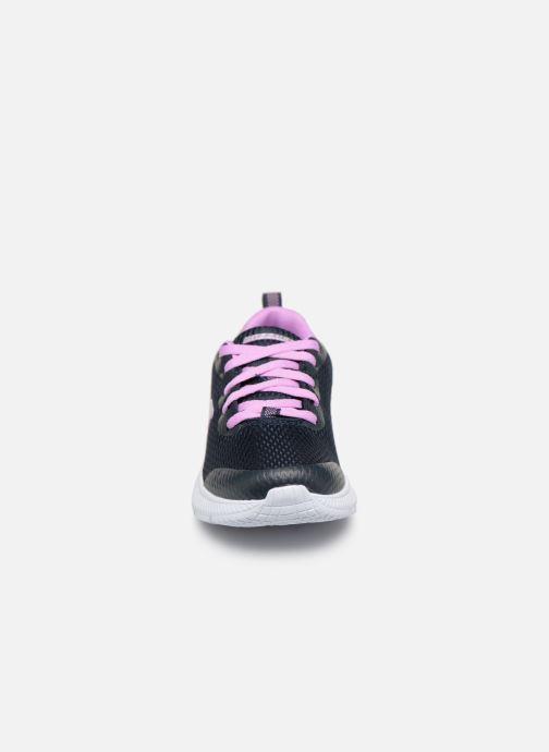 Baskets Skechers Dyna-Air Jump Brights Bleu vue portées chaussures