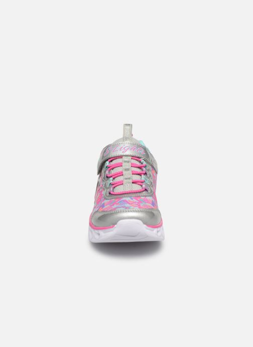 Deportivas Skechers Heart Lights Multicolor vista del modelo