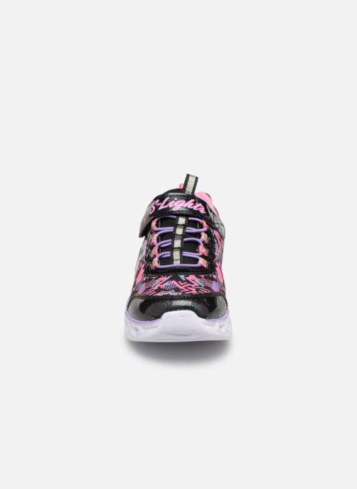 Baskets Skechers Heart Lights Noir vue portées chaussures