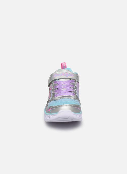 Baskets Skechers Heart Lights Multicolore vue portées chaussures