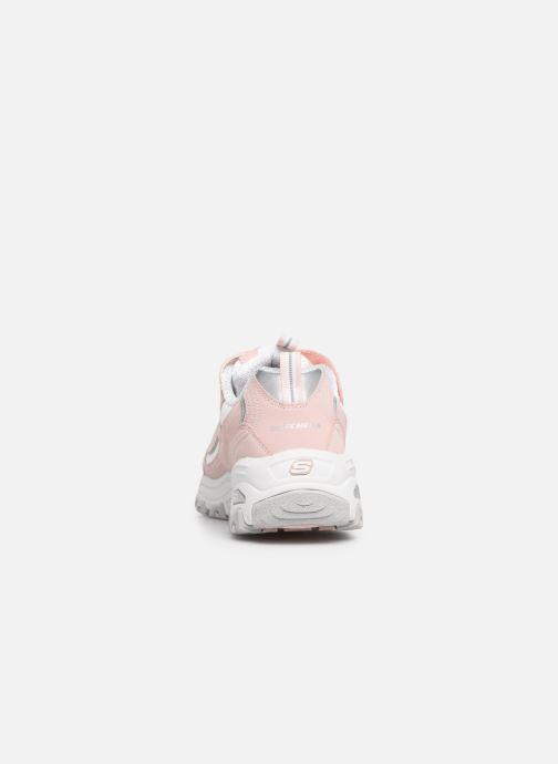 Sneaker Skechers D'Lites Crowd Appeal rosa ansicht von rechts