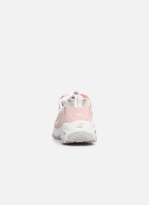 Trainers Skechers D'Lites Crowd Appeal Pink view from the right