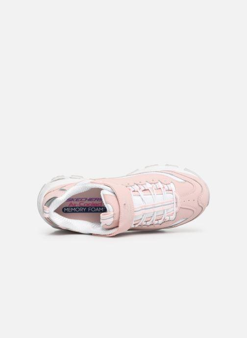 Sneaker Skechers D'Lites Crowd Appeal rosa ansicht von links