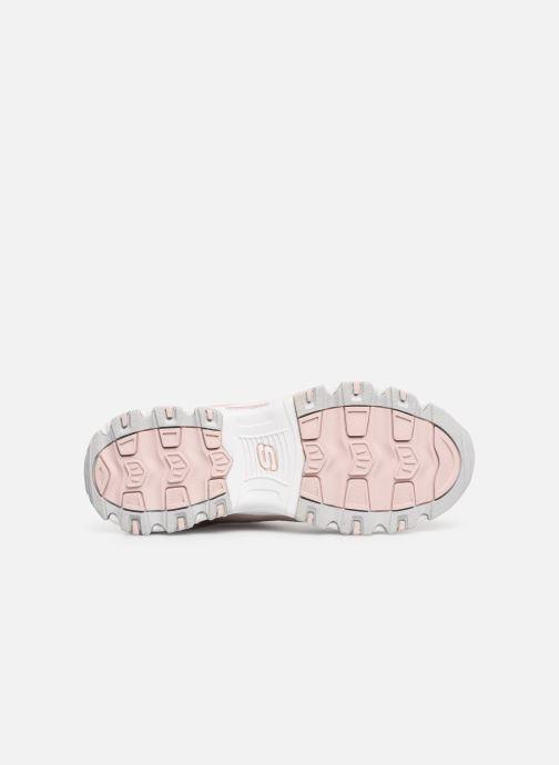 Sneaker Skechers D'Lites Crowd Appeal rosa ansicht von oben
