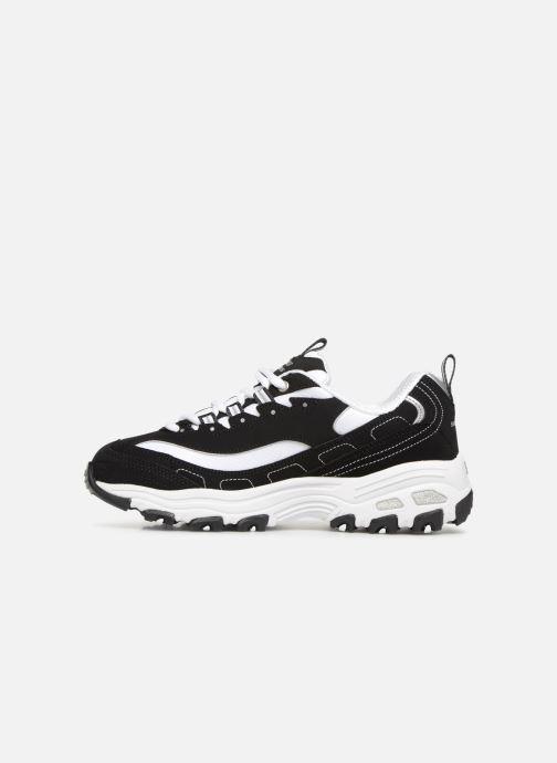 Sneaker Skechers D'Lites Biggest Fan schwarz ansicht von vorne