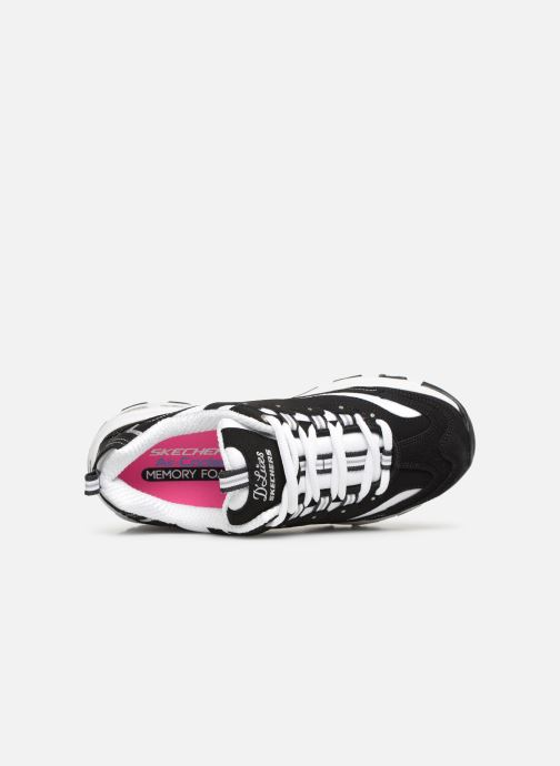 Baskets Skechers D'Lites Biggest Fan Noir vue gauche