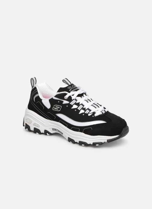 Baskets Skechers D'Lites Biggest Fan Noir vue détail/paire
