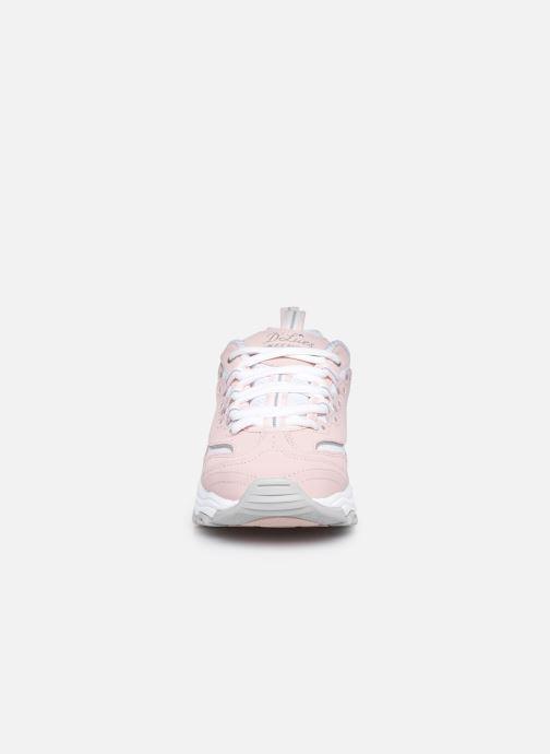 Sneaker Skechers D'Lites Biggest Fan rosa schuhe getragen