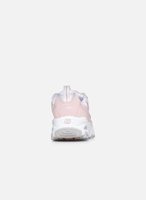 Sneaker Skechers D'Lites Biggest Fan rosa ansicht von rechts