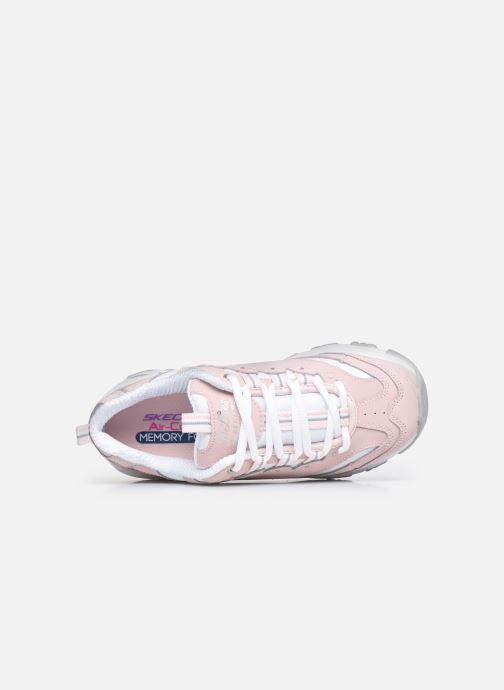 Sneaker Skechers D'Lites Biggest Fan rosa ansicht von links
