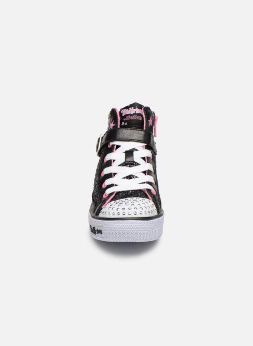 Baskets Skechers Shuffles Glitter Girly Noir vue portées chaussures