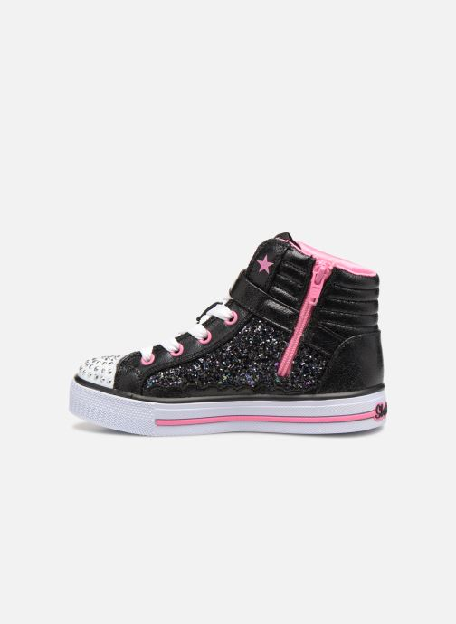 Baskets Skechers Shuffles Glitter Girly Noir vue face