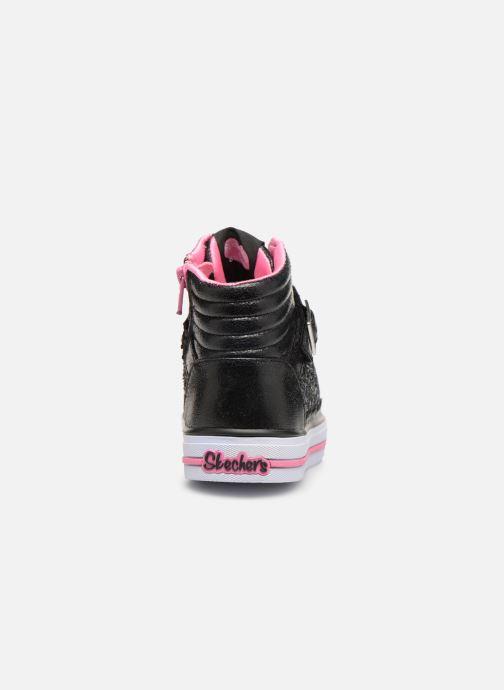 Baskets Skechers Shuffles Glitter Girly Noir vue droite