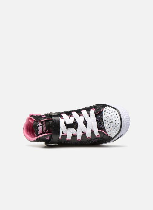 Baskets Skechers Shuffles Glitter Girly Noir vue gauche