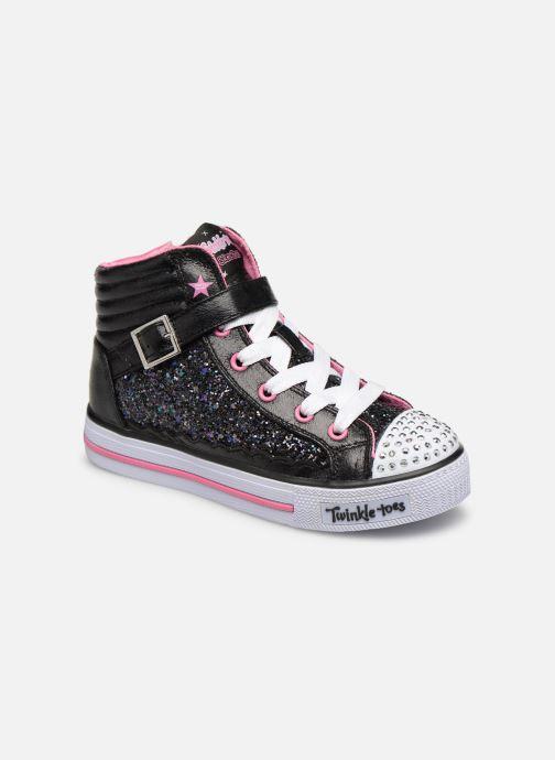 Baskets Skechers Shuffles Glitter Girly Noir vue détail/paire