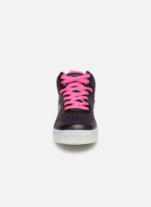 Baskets Skechers Energy Lights Knit Glitz Noir vue portées chaussures