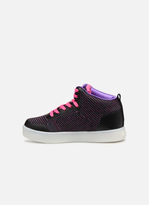 Trainers Skechers Energy Lights Knit Glitz Black front view