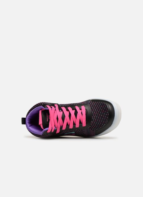 Trainers Skechers Energy Lights Knit Glitz Black view from the left