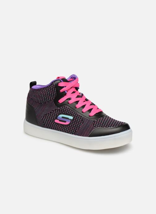 Trainers Skechers Energy Lights Knit Glitz Black detailed view/ Pair view