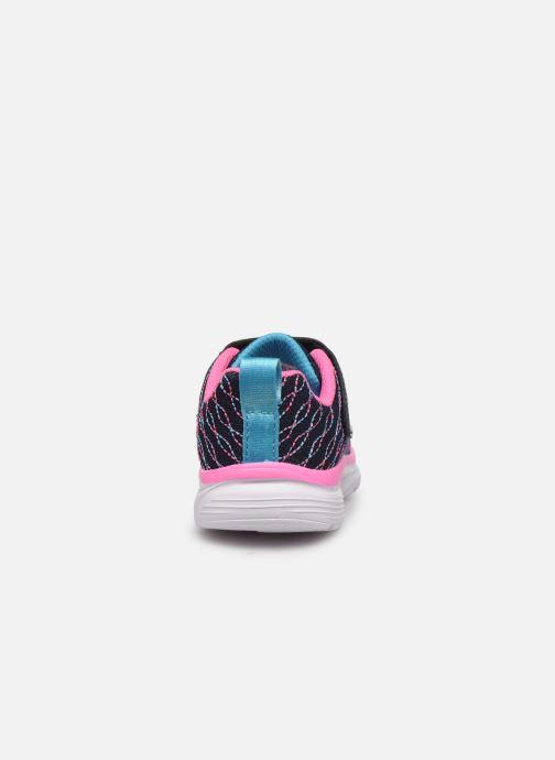 Chaussures de sport Skechers Wavy Lites Bleu vue droite