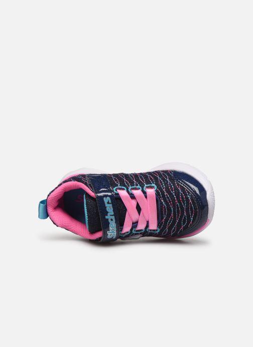 Chaussures de sport Skechers Wavy Lites Bleu vue gauche