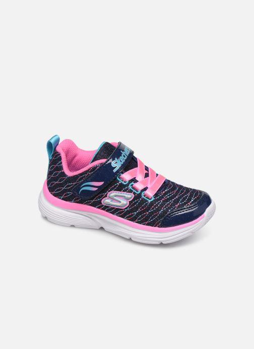 Chaussures de sport Skechers Wavy Lites Bleu vue détail/paire