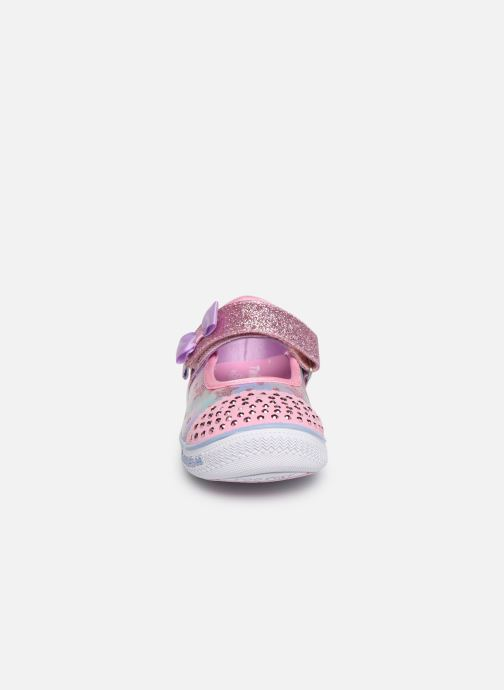 Ballerines Skechers Twinkle Play Starry Sparks Argent vue portées chaussures
