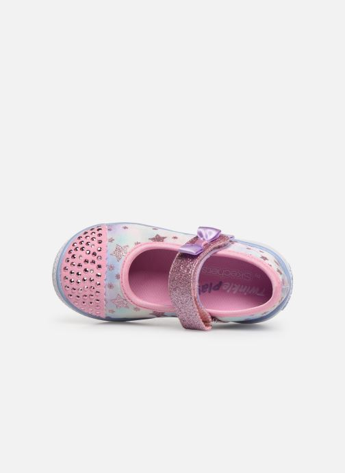 Ballerinas Skechers Twinkle Play Starry Sparks silber ansicht von links