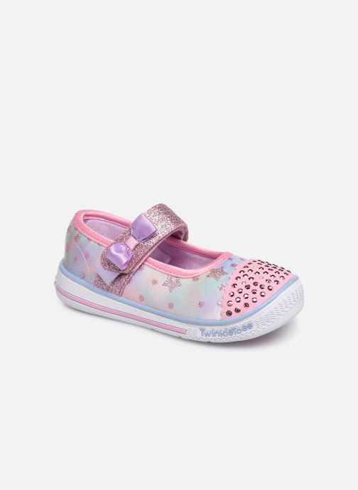 Ballerines Skechers Twinkle Play Starry Sparks Argent vue détail/paire