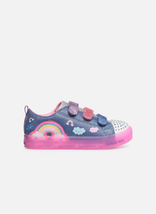 Trainers Skechers Shuffle Brights Rainbow Glow Multicolor back view