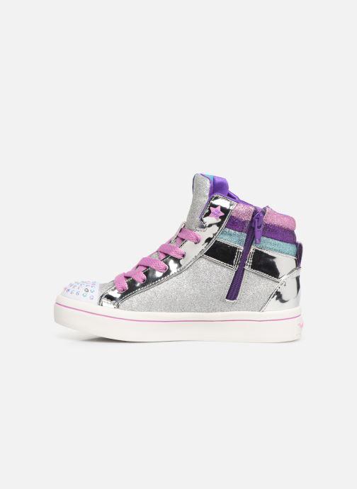 Sneakers Skechers Twi-Lites Sparkle Status Zilver voorkant