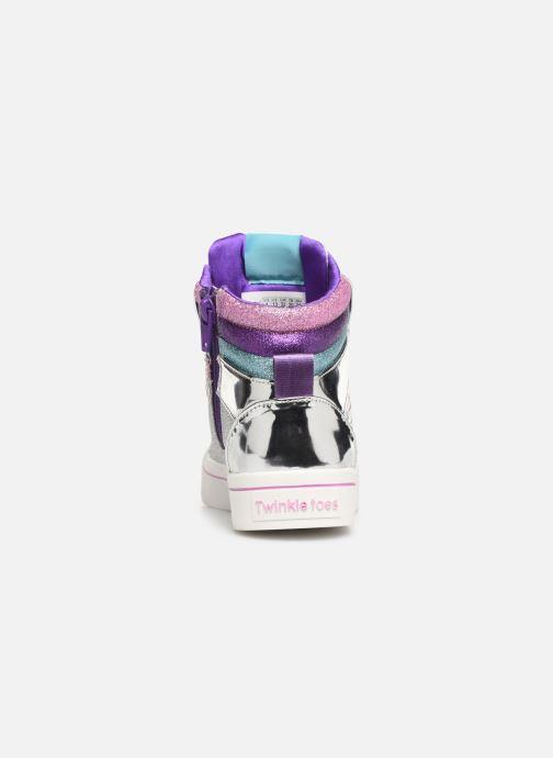 Baskets Skechers Twi-Lites Sparkle Status Argent vue droite