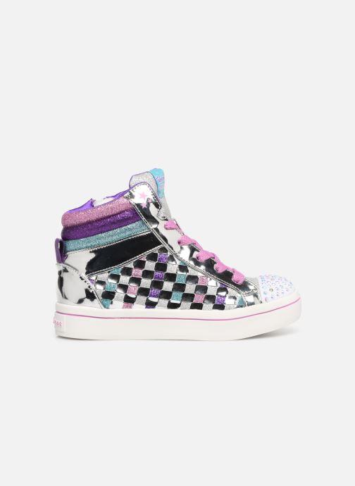 Sneakers Skechers Twi-Lites Sparkle Status Zilver achterkant