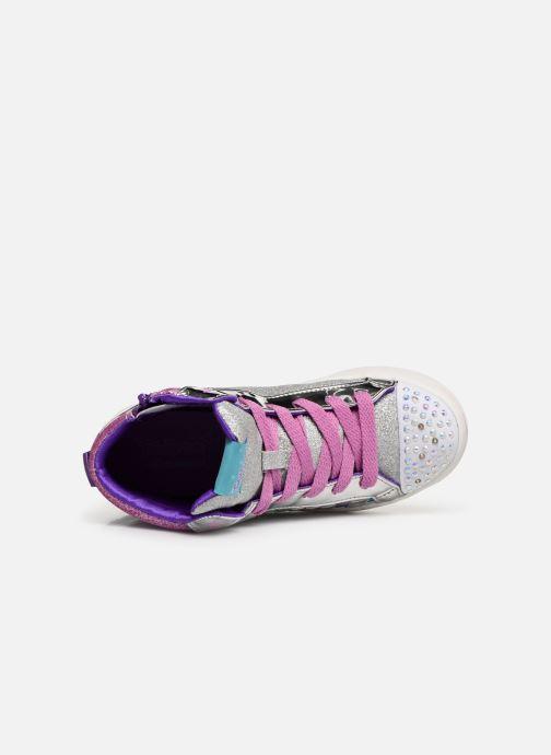 Baskets Skechers Twi-Lites Sparkle Status Argent vue gauche