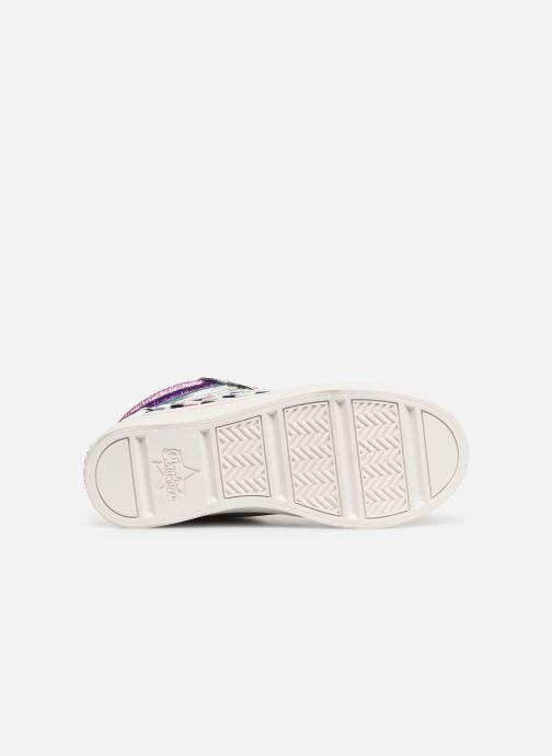 Baskets Skechers Twi-Lites Sparkle Status Argent vue haut