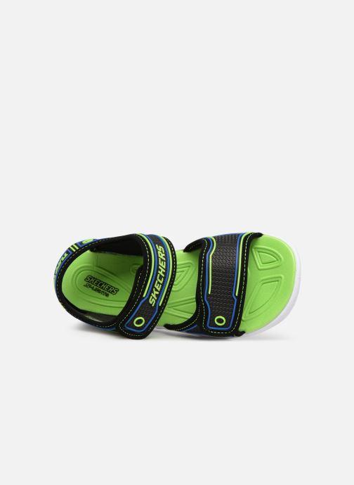 Sandalias Skechers Hypno-Splash Negro vista lateral izquierda