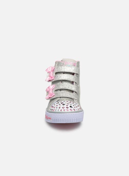 Baskets Skechers Shuffles Doodle Days Argent vue portées chaussures