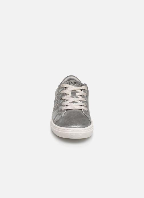 Baskets Skechers Goldie Sparkle & Sweet Argent vue portées chaussures