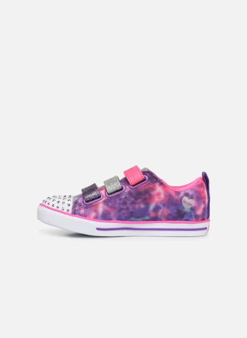 Baskets Skechers Sparkle Lite Rainbow Brights Violet vue face