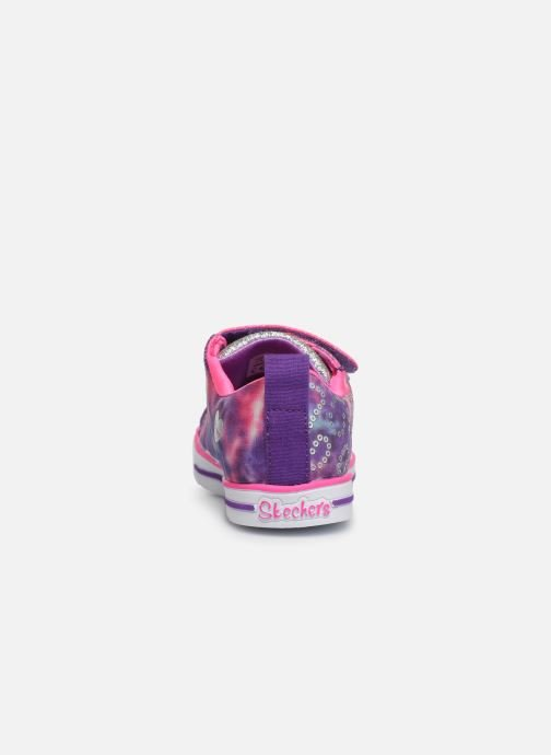 Baskets Skechers Sparkle Lite Rainbow Brights Violet vue droite