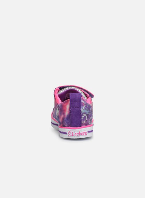 Baskets Skechers Sparkle Lite Rainbow Brights Violet vue droite