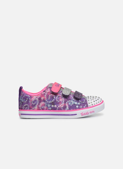 Sneakers Skechers Sparkle Lite Rainbow Brights Paars achterkant