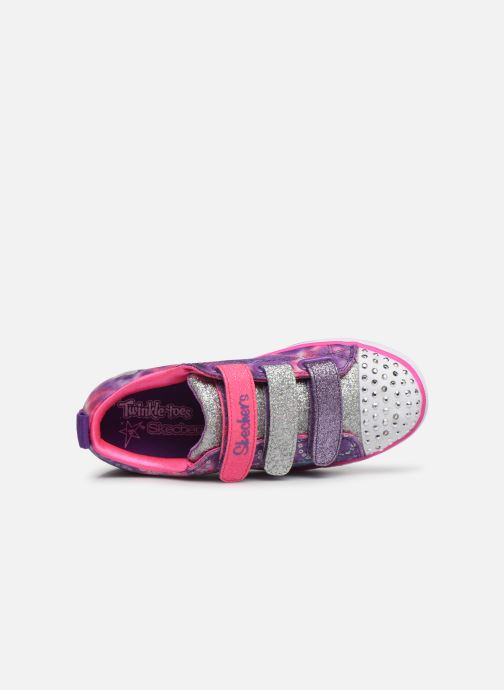 Baskets Skechers Sparkle Lite Rainbow Brights Violet vue gauche