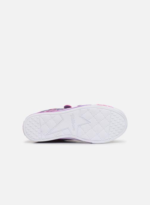 Baskets Skechers Sparkle Lite Rainbow Brights Violet vue haut