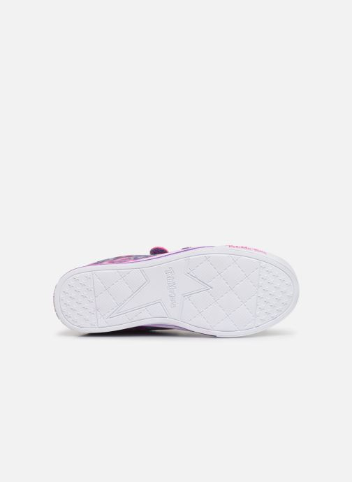 Baskets Skechers Sparkle Lite Rainbow Brights Violet vue haut