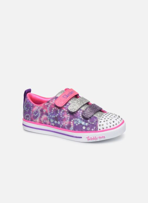Baskets Skechers Sparkle Lite Rainbow Brights Violet vue détail/paire