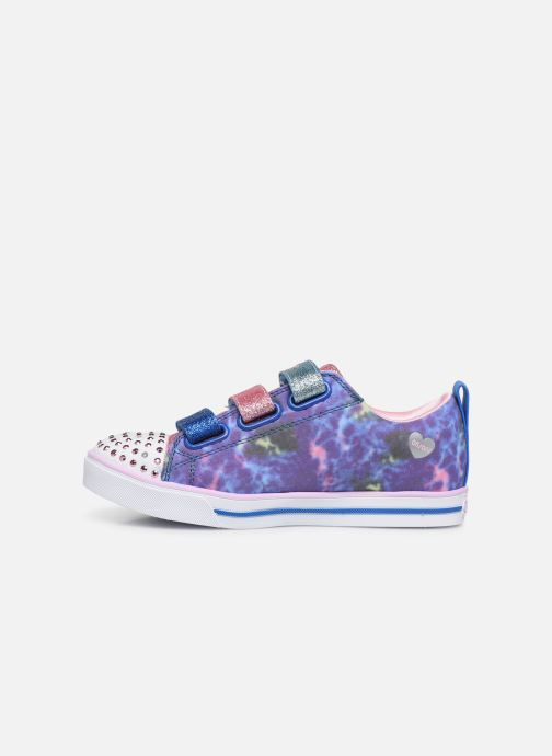 Sneakers Skechers Sparkle Lite Rainbow Brights Zilver voorkant