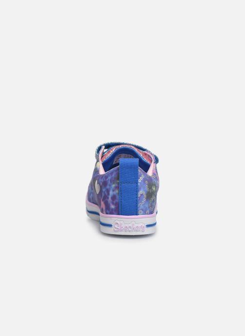 Baskets Skechers Sparkle Lite Rainbow Brights Argent vue droite