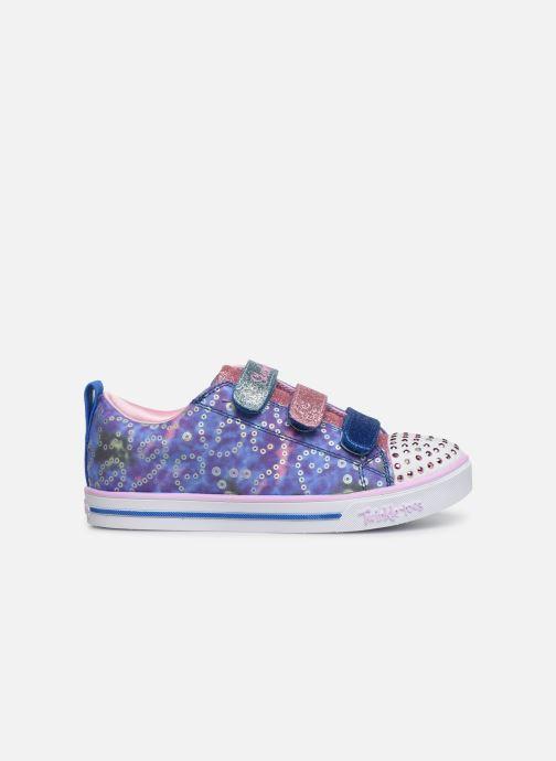 Sneakers Skechers Sparkle Lite Rainbow Brights Zilver achterkant